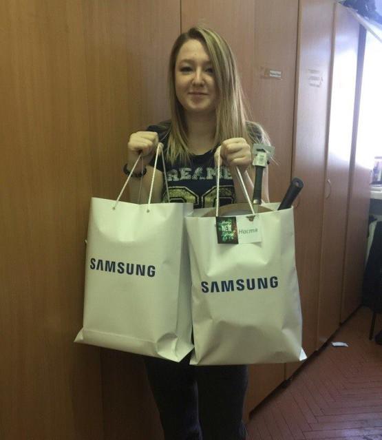 Поддержка наших выпускников от компании Samsung