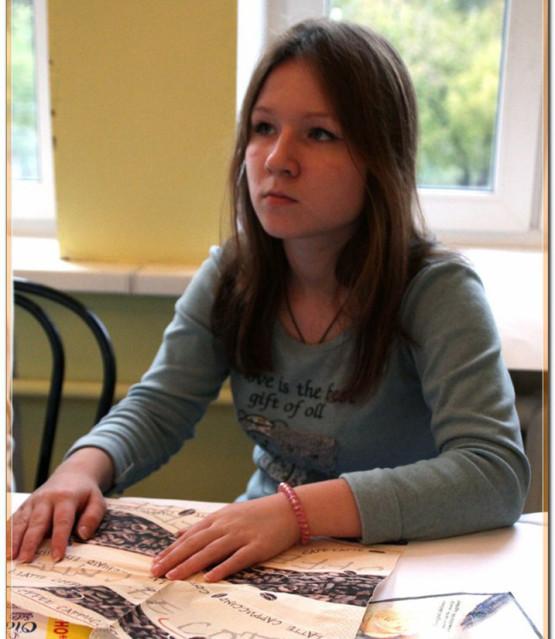 Мастер-класс по декупажу в Быковском детском доме
